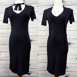 Velvet Torch softest lined jersey pussybow dress